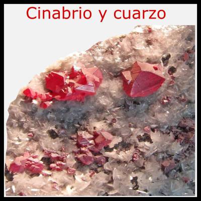 cinabre et quartz